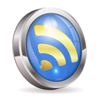 RSS Feed News Button vector image