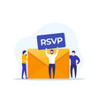 rsvp envelope and people vector image