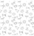 seamless pattern with drawing bell flowers vector image vector image