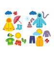 set children season clothes vector image vector image