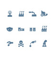set of smog pollution icon flat design vector image vector image