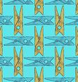 Sketch clotespin pattern vector image