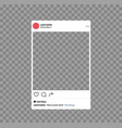 social network photo frame mobile template social vector image vector image