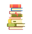 stack books on a white background pile of vector image vector image