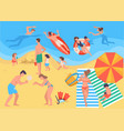 summer vacation people spending holidays vector image