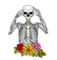 tattoos inspiration full bones the vector image
