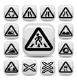traffic auto signs set vector image