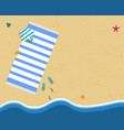 tropical sandy beach background with copy space vector image