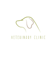 veterinary clinic with cat and dog design template vector image vector image