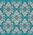 vintage damask seamless pattern light blue floral vector image