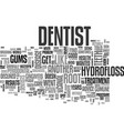 what works for oral health text word cloud concept vector image vector image