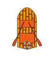 wooden boat design vector image vector image