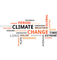 word cloud climate change vector image vector image