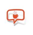 Hot drink message sticker orange vector image