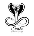 Snake logo vector image