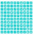 100 beauty salon icons set grunge blue vector image vector image