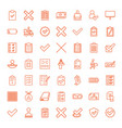 49 check icons vector image vector image