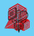 abstract 3d geometric shape polygonal figure