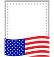 american abstract flag patriotic border vector image vector image