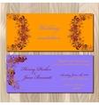 Autumn orange wild grape wedding invitation card vector image vector image