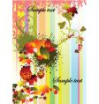 autumn stripped background vector image vector image