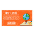 back to school banner icon and logo isolated vector image vector image