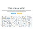 banner equestrian sport vector image vector image