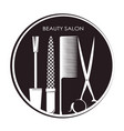 beauty salon and manicure design vector image vector image
