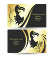 business card for beauty salon vector image vector image
