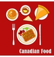 Canadian cuisine breakfast food and drink vector image