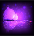christmas dark composition of violet shade with vector image