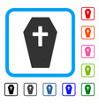 coffin framed icon vector image