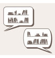 Conversation about knowledge books learning vector image