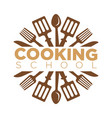 cooking school class icon template cook vector image vector image