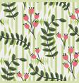 delicate stylized flourish leaf graphic geo motif vector image