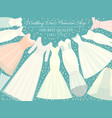 different styles wedding dresses banner vector image vector image