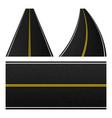 element road stripe set marking highway vector image