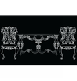 Fabulous Rich Baroque Rococo chair and table set vector image vector image