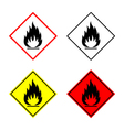 flammable sign set vector image