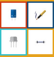 flat icon device set of resist transistor repair vector image vector image