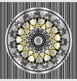 floral round greek mandala seamless pattern vector image vector image