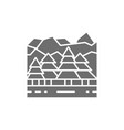 forest and mountains canadian landscape grey icon vector image