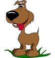 Funny cartoon dog vector image vector image