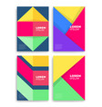 geometric cover design a4 format template vector image