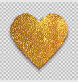 golden heart on transparent background vector image vector image