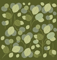green leafs pattern background vector image vector image