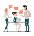 Group of happy business people Project discussion vector image