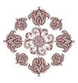 henna tattoo mehndi flower template vector image