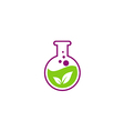 herbal leaf extract chemical logo vector image