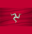 isle of man flag flag of isle of man blowig in vector image